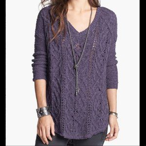 Free People Cross My Heart Cable Knit Sweater E18